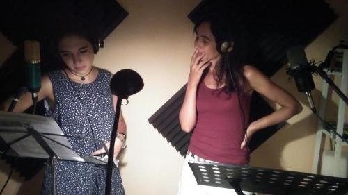 Grabación de cuentos en audio junto a Raquel Giles en Jerez, 2016